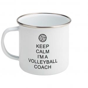 Keep Calm – Volleyball Coach #1 – Enamel Mug