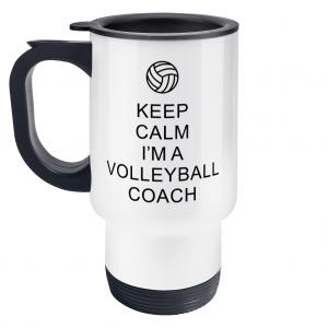 Keep Calm – Volleyball Coach #1 – Travel Mug