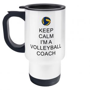 Keep Calm – Volleyball Coach #2 – Travel Mug