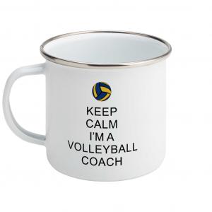 Keep Calm – Volleyball Coach #2 – Enamel Mug
