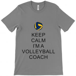 Keep Calm – Volleyball Coach 2 – Canvas Unisex Crew Neck T-Shirt