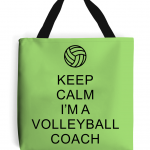 Lime - Keep Calm - Volleyball Coach #1 - Tote Bag