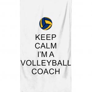 Beach Towel Keep Calm – Volleyball Coach 2