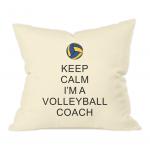 Keep calm - volleyball coach 2- natural cushion