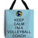 Atoll Blue - Keep Calm - Volleyball Coach #2 - Tote Bag