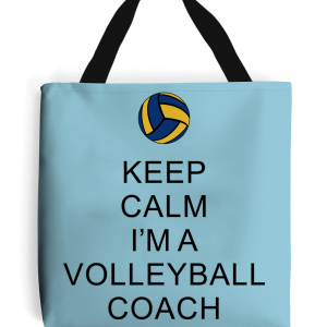 Keep Calm – Volleyball Coach #2 – Tote Bag