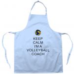 Light blue - Keep Calm - Volleyball Coach #1 - Apron