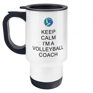 Keep Calm – Volleyball Coach #5 – Travel Mug