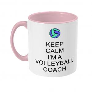 Keep Calm – Volleyball Coach #5 – Two Toned Mug