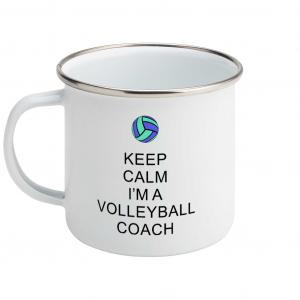 Keep Calm – Volleyball Coach #5 – Enamel Mug