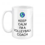 Keep calm - volleyball coach 5 - 15oz mug right