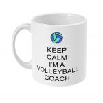 Keep calm - volleyball coach 5- 11oz mug