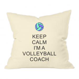 Keep Calm – Volleyball Coach #5 – Natural Throw Cushion