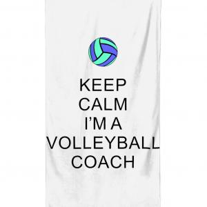 Keep Calm – Volleyball Coach #5 – Beach Towel