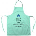 Aqua - Keep Calm - Volleyball Coach #1 - Apron