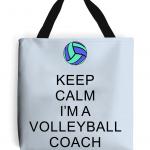 Sky blue - Keep Calm - Volleyball Coach #5 - Tote Bag