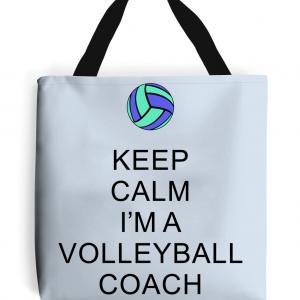 Keep Calm – Volleyball Coach #5 – Tote Bag