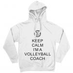 Arctic white - Keep Calm - Volleyball Coach #1 - AWDis Unisex Epic Print Hoodie
