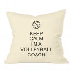 Keep calm - volleyball coach 1- natural cushion