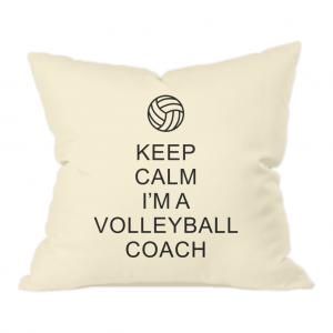 Keep Calm – Volleyball Coach #1 – Natural Throw Cushion