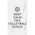 Keep calm - volleyball coach 1- Beach towel