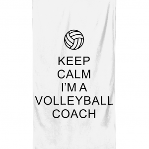 Beach Towel Keep Calm – Volleyball Coach 1