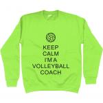 Lime Green - Keep Calm - Volleyball Coach #1 - AWDis Unisex Sweatshirt