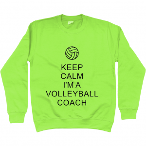 Keep Calm – Volleyball Coach #1 – AWDis Unisex Sweatshirt