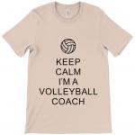 Heather prism peach - Keep Calm - Volleyball Coach #1 - Canvas Unisex Crew Neck T-Shirt