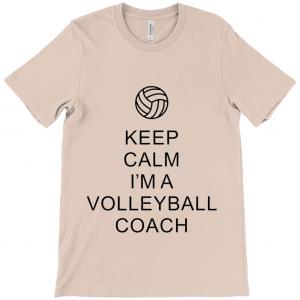 Keep Calm – Volleyball Coach #1 – Canvas Unisex Crew Neck T-Shirt