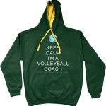 Forest Green - Gold - Volleyball Coach #5 - AWDis Varsity Hoodie - Volleyball Coach #5 - AWDis Varsity Hoodie