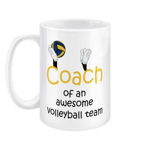 Volleyball coach – Awesome team #2 – 15oz Mug