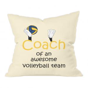 Volleyball coach – Awesome team #3 – Natural Throw Cushion