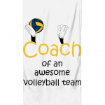 Coach of an awesome volleyball team Beach Towel