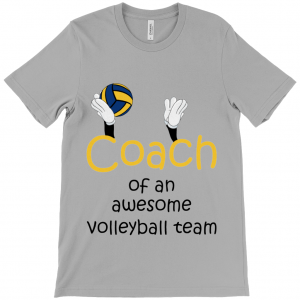 Volleyball coach – Awesome team 3 – Canvas Unisex Crew Neck T-Shirt