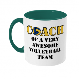 Volleyball coach – Awesome team #2 – Two Toned Mug