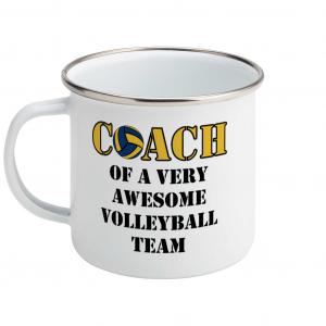 Volleyball coach – Awesome team #2 – Enamel Mug