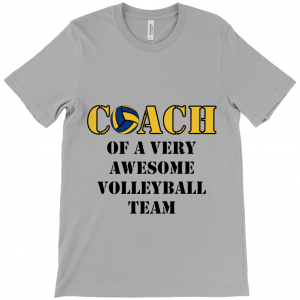 Volleyball coach – Awesome team 2 – Canvas Unisex Crew Neck T-Shirt