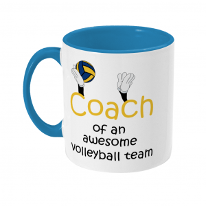 Volleyball coach – Awesome team #3 – Two Toned Mug