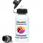 Education is important but Volleyball is more importanter - Colourful Volleyball - 400ml Water Bottle
