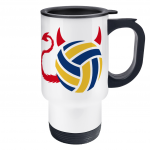 Volleyball brings out the devil in me - travel mug image