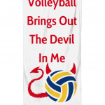 Volleyball Brings Out The Devil In Me Beach Towel