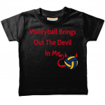 Black - Volleyball brings out the devil in me - Larkwood Baby Toddler T-Shirt